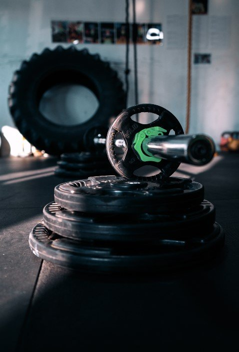 barbell set gym weights heavy tyre