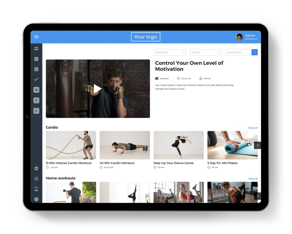 Video on Demand for streaming workouts